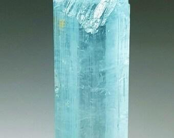 44*14*22mm Rough Aquamarine Crystal From Shigar Valley Skardu 167 Carat Top Quality Undamaged Aquamarine Crystal Combine With Feldspar