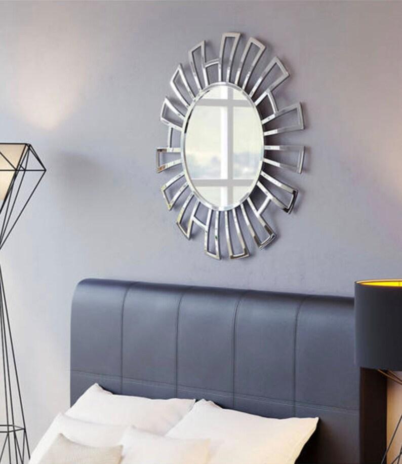 Calmar Round Silver Wall Mirror image 0