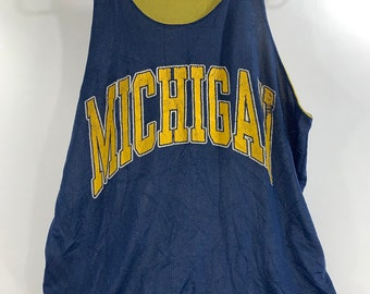 cd8ab198106 Vintage 90's UofM Michigan Wolverines reversable practice jersey