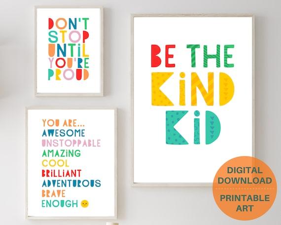 Kids classroom decor, motivational quote prints, kids inspirational wall art, classroom posters, classroom prints bundle, INSTANT DOWNLOAD