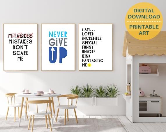 Classroom wall decor, motivational quote printable art, kids positive wall art, classroom prints, school prints, educational posters
