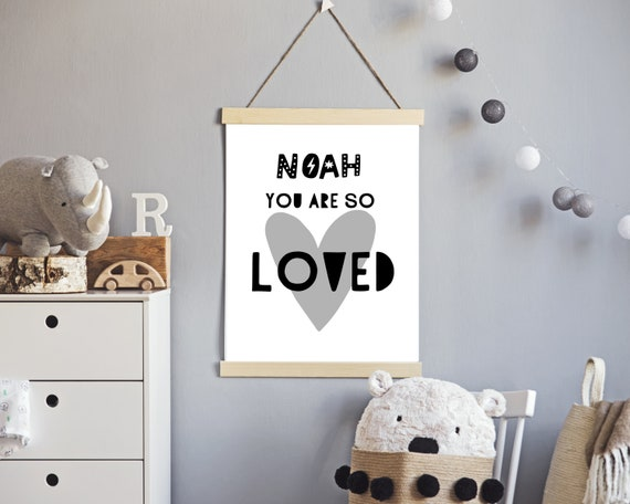 You Are So Loved print, personalized gift for kids, toddler boy gift, custom nursery art, nursery decor, kids rooms decor, PRINTABLE