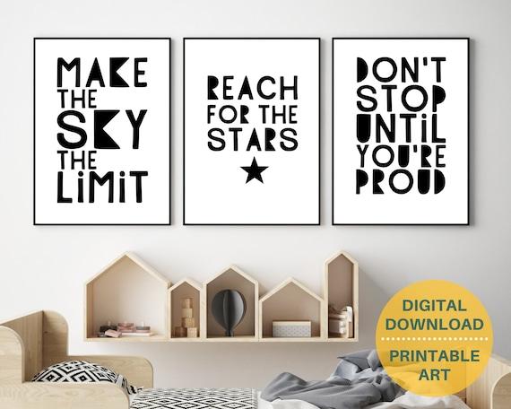 PRINTABLE teen boy wall art, boys encouragement art, teen room decor, teen boy inspirational poster, boys positive quote art, set of 3