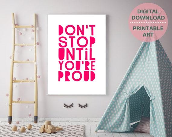 PRINTABLE word art poster, teen girl encouragement gift, teen room decor, teens inspirational quote print, girls positive wall art