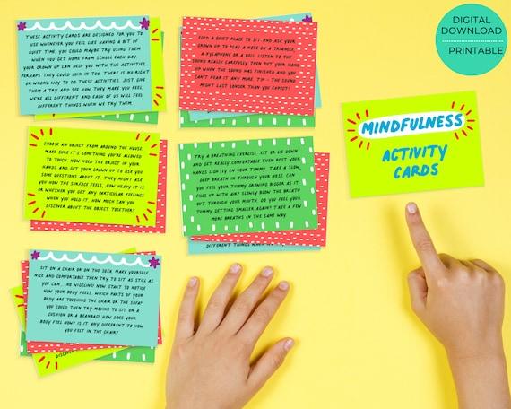 Printable mindfulness cards set - for kids aged 4-11