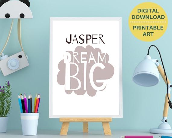 Boys inspirational quote print, nursery decor, personalized gift for baby boy, nursery printable, boys bedroom decor, DIGITAL DOWNLOAD