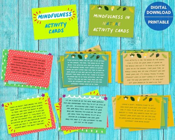 Mindfulness cards for kids, PRINTABLE cards, mindful activity cards, kids mindfulness gift, mood cards, motivational cards, kids educational