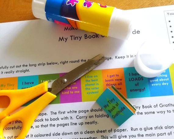 Kids craft kit, mini book of gratitude activity, printable kids craft sheets, self care activity, homeschool printable, classroom printable