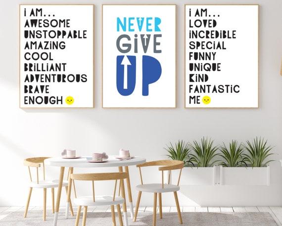 3 classroom positivity quote digital poster prints, kids educational wall art, classroom decor, classroom prints bundle, DIGITAL DOWNLOAD