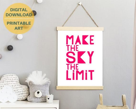 PRINTABLE positive word art poster, teen girl gift, teen bedroom decor, teens inspirational quote print, girls wall art, encouragement art