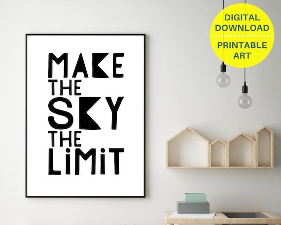PRINTABLE monochrome word art poster, teen boy gift, teen room decor, teens inspirational quote print, boys bedroom wall art, word art