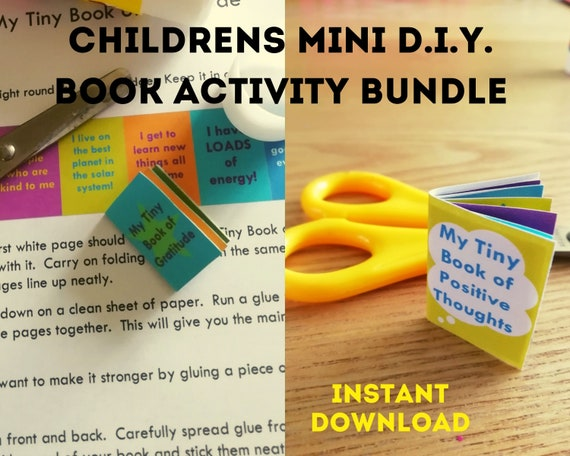 Kids mini book printable activity sheets, gratitude book, positivity book, kids well-being activity, classroom resource, INSTANT DOWNLOAD