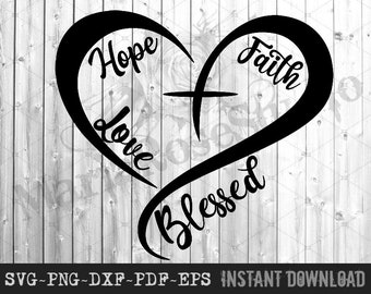 Faith Hope Love Svg Etsy