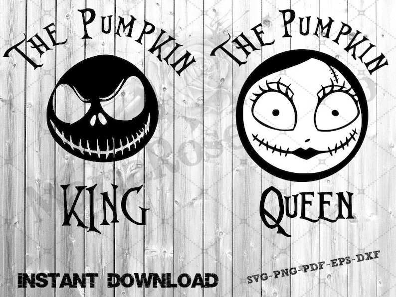 Svg Nightmare Before Christmas S V G The Pumpkin King And The Etsy