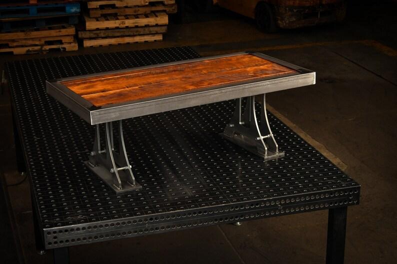 Rustic Metal Coffee Table.Industrial Rustic Metal Coffee Table