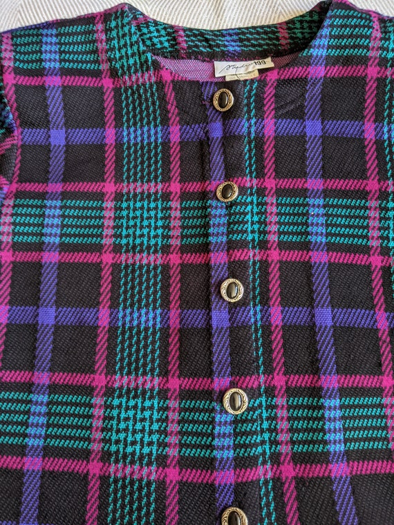 Vintage plaid skirt set/Two piece skirt set/Cluel… - image 2