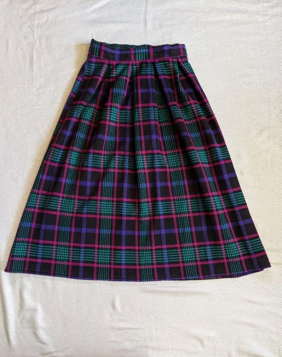 Vintage plaid skirt set/Two piece skirt set/Cluel… - image 5