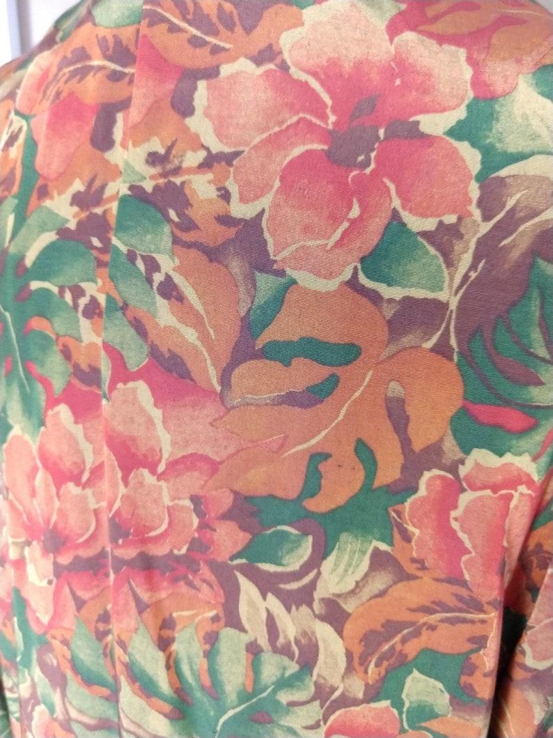 1980/'s Oversized Floral Blazerby Adrienne ChristinaSz Small