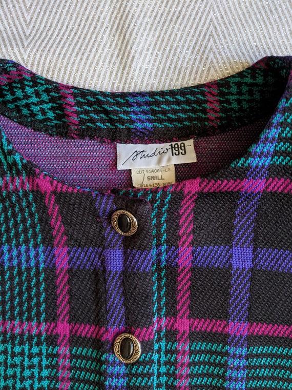 Vintage plaid skirt set/Two piece skirt set/Cluel… - image 4