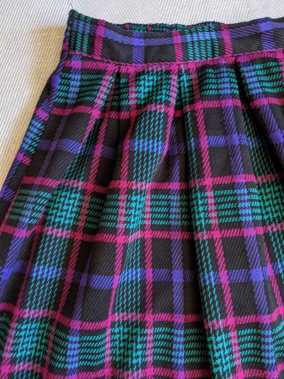 Vintage plaid skirt set/Two piece skirt set/Cluel… - image 6