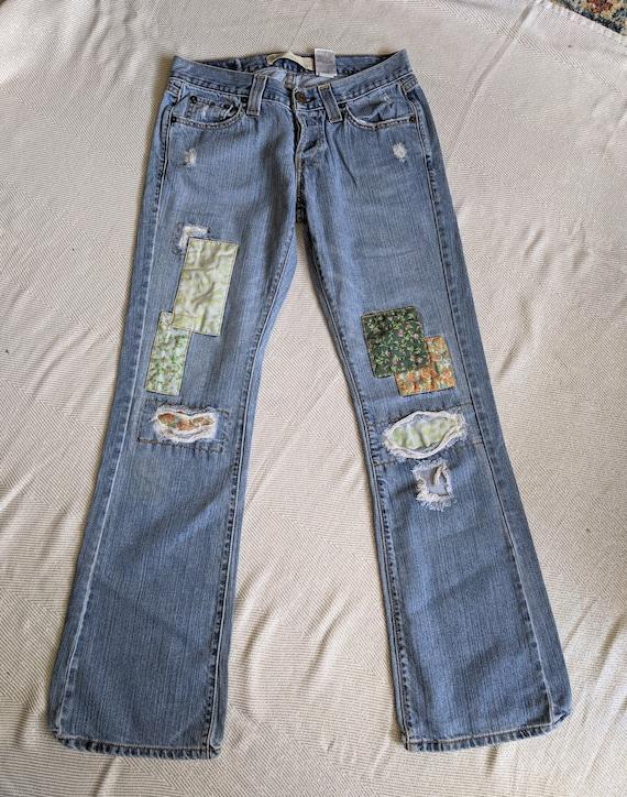 Y2K Levi's patchwork jeans/513 Bootcut Jeans
