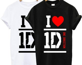 43acf6e1a6f One Direction I Heart 1D t shirt, One Direction t shirt, One Direction  tshirt, One Direction shirt, One Direction clothing size S-2XL