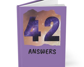 42 Answers - Hardcover Journal - Blank Book - Diary - Hitchhiker's Guide to the Galaxy