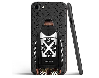 04a75805a81f85 off white inspired by lv iPhone 7 Plus case