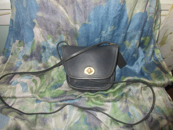 Vintage Coach Navy Blue Everett Mini Purse Made in