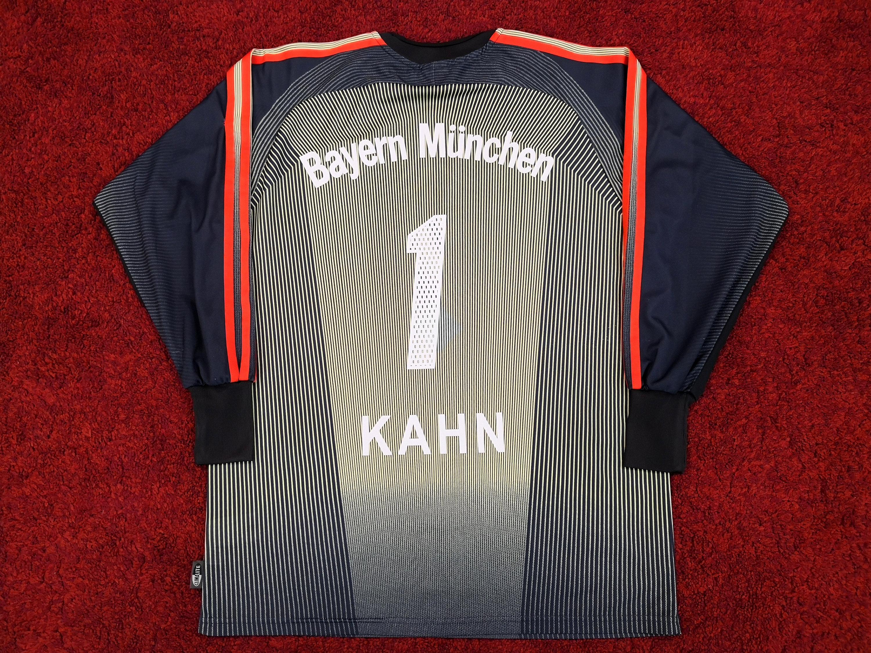 Classic Vintage FC BAYERN Munich Bayern München Goalkeeper Home Shirt Jersey Maglia Trikot Maillot Oliver KAHN Adidas Long Sleeve Black Gold