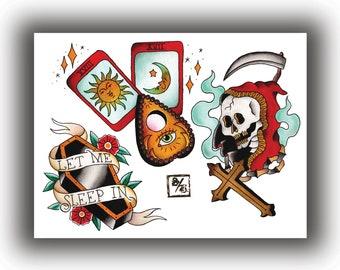 Traditional tattoo | Etsy