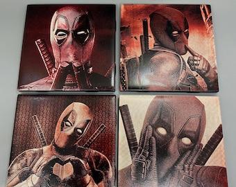 "Deadpool 4.25"" Tile Coasters"
