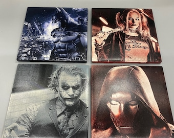 "DC Comics 4.25"" Tile Coasters"