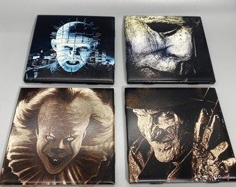 "Horror Movie 4.25"" Tile Coasters"
