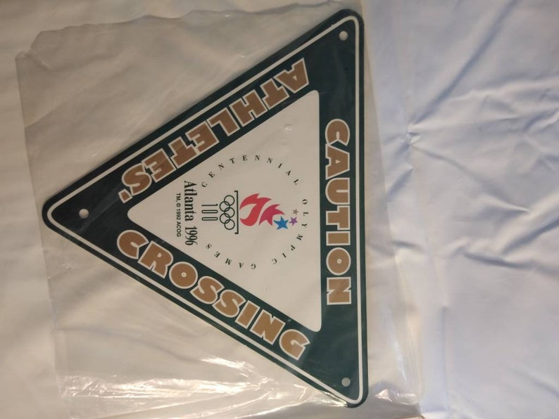 1996 Centennial Olympics Caution Athletes Crossing Yield Sign