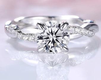 Black Walnut Thin Seashell Infinity Ring Inlay Eternity ring Rustic Engagement ring
