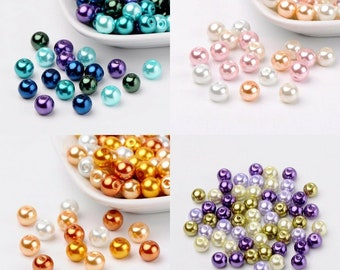 5 pcs CZECH Glass Bead Pendants Faux Pearl Charms Freshwater Pearl* Light Grey Pearl Jewelry Making Craft *