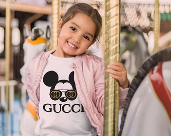92180af53 Gucci Inspired Kids T-Shirt Brand Baby Tee Gift For Him Birthday Gift  Unisex Teen Clothing Baby Designer Shirt Summer T-Shirt For Boy MS0035