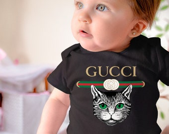 0aa431a84 Gucci Cat Babysuit Kid's Bodysuit Gucci Newborn Body Unisex Baby Clothes  Child Sleepsuit Gucci Logo Kid's Onesie Kitten Pregnant Gift CD0196