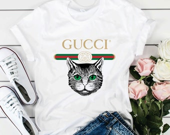 975de181f G***i Unisex Cotton O Neck Classic logo Printed T shirts G***i tees LA0016