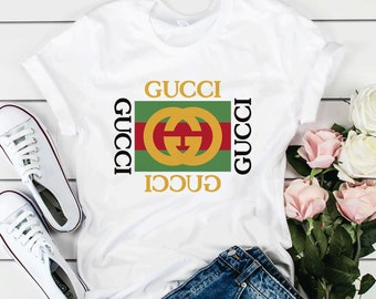 78d6d96a Gucci Vintage T-Shirt Gucci Brand Tee Gift For Girlfriend Gucci Gift Unisex  Teen Clothing Gucci Cotton Shirt Summer T-Shirt For Boy UT1013