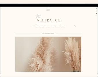 Wix Website Template - MINIMAL Website Theme, - E-commerce - Service Providers - Small Business Website, Website Template