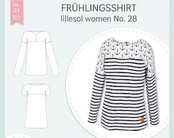 Paper cut pattern spring shirt lillesol woman No. 28