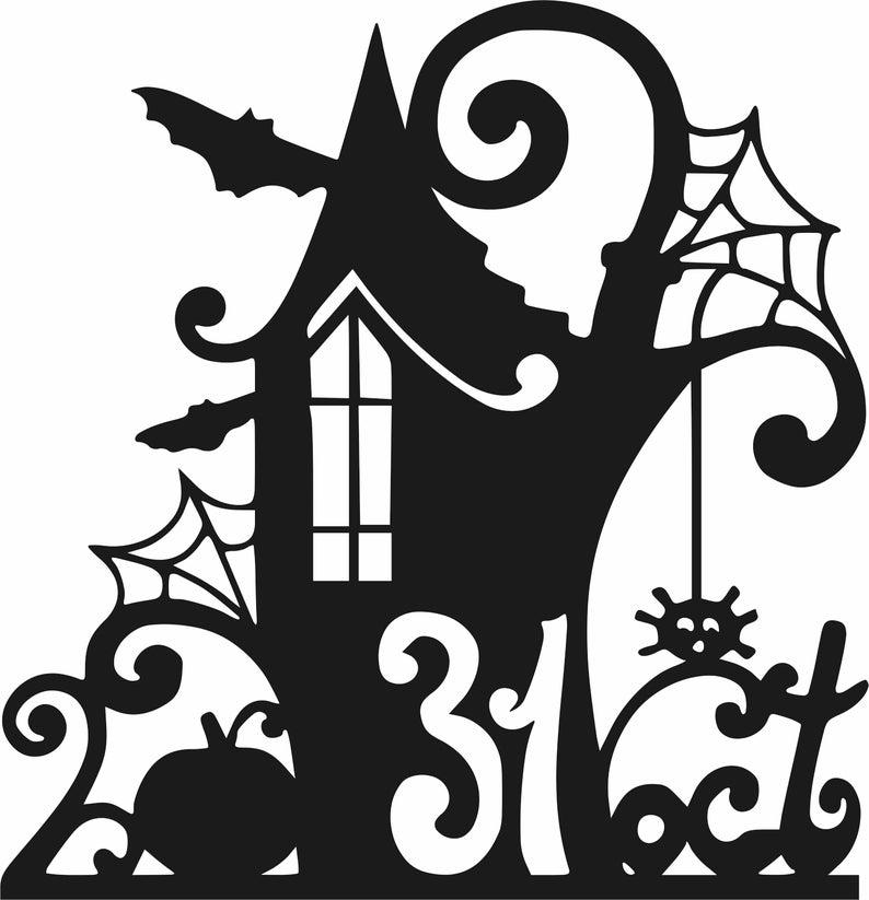 dxf, cdr, svg, jpg, ai Halloween october 31 Simbol of 31 october CDR File frame dxf file Halloween date files Laser Plasma .DXF