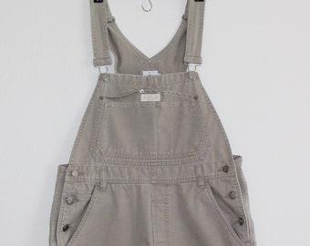 8d542027bbf Vintage Calvin Klein Khaki Short Overalls 90s CK Size M