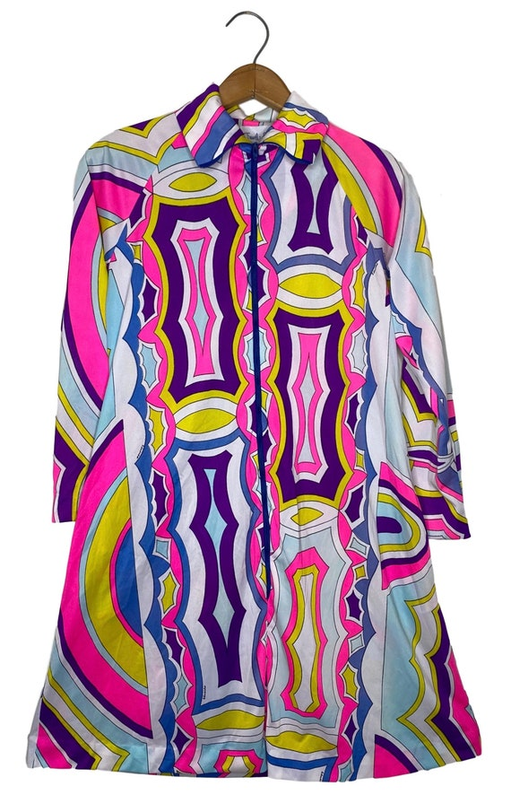 Vintage 1960's Fluorescent Multicolored Psychedeli