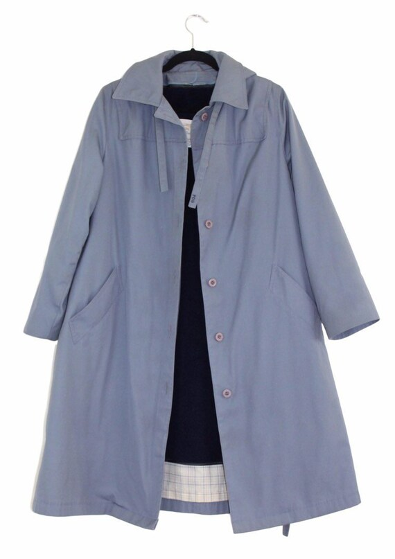 London Fog Trench Coat Removable Lining and Hood V