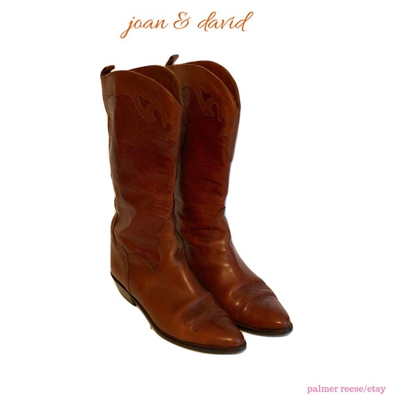 Vintage Joan & David Whiskey Brown Leather and Sna
