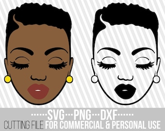 Short Hair Svg Etsy