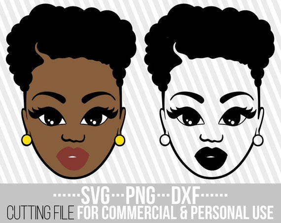 Beauty Black Woman Svg Short Hair Svg Afro Girl Layered Etsy